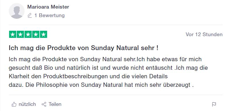 erster Earfahrungs Sunday Natural